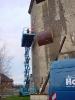 Bau des großen Überhangs